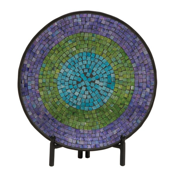 Shop Metal Mosaic Platter With Stand Free Shipping On