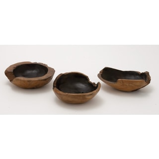 Teak Wood Bowl 8-inch x 9-inch x 10-inch (Set of 3)