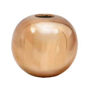 Ceramic Copper 10-inch Vase