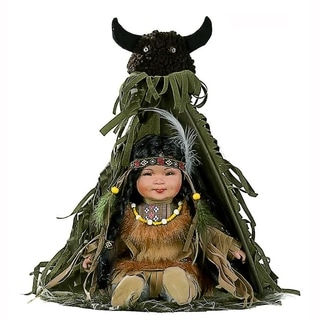 Cherish Crafts Alawa 12-inch Porcelain Native American Doll