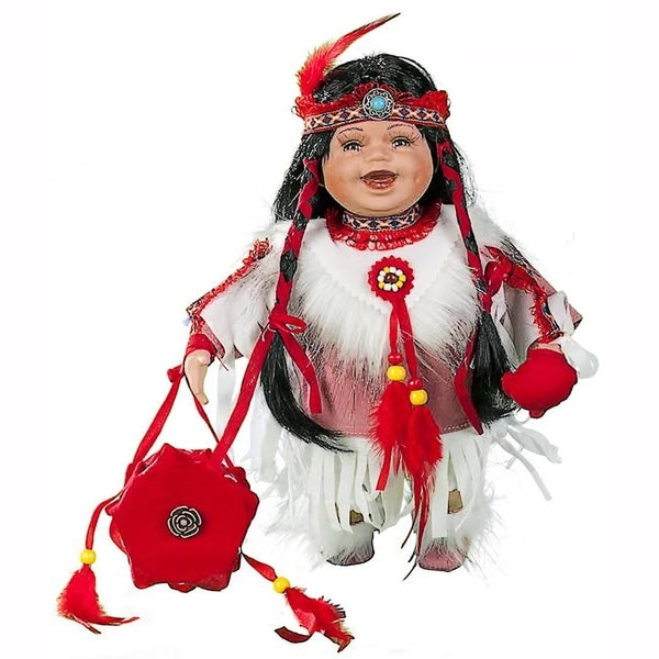Cherish Crafts Ayita 12-inch Porcelain Native American Doll