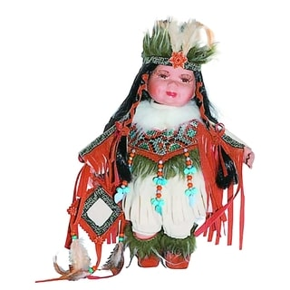 Cherish Crafts Nova 12-inch Porcelain Native American Doll