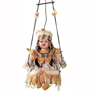 Cherish Crafts Little Dove 16-inch Porcelain Doll on Swing