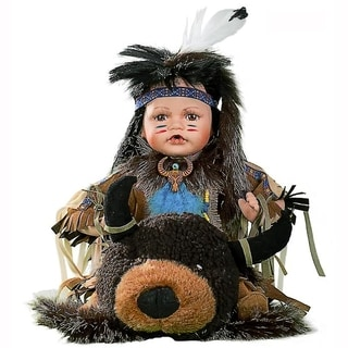 Cherish Crafts Atohi 16-inch Porcelain Native American Doll