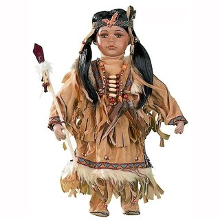 Cherish Crafts Atepa 16-inch Porcelain Native American Doll