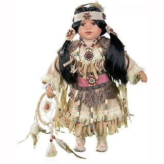 Cherish Crafts Ayasia 16-inch Porcelain Native American Doll