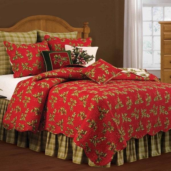 Holly Red Cotton Standard Sham