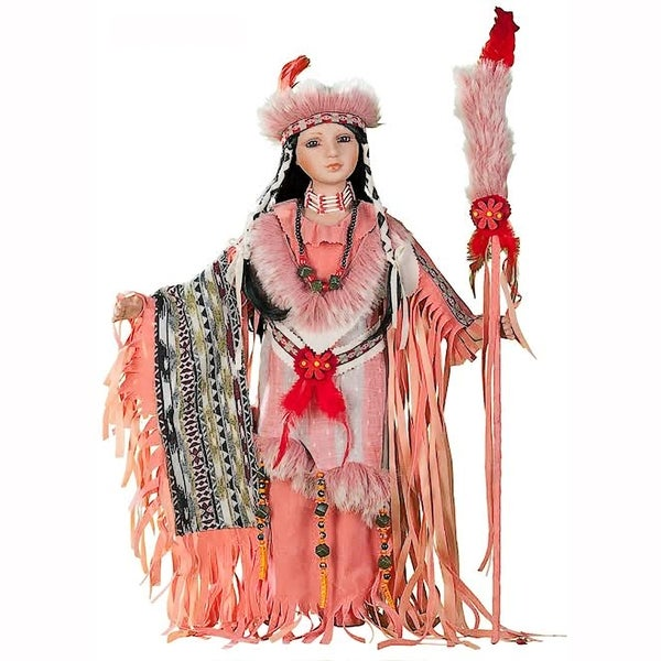 Cherish Crafts Desert Wind 24-inch Porcelain Native American Doll
