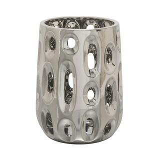 Ceramic Silver Vase 9-inch x 12-inch