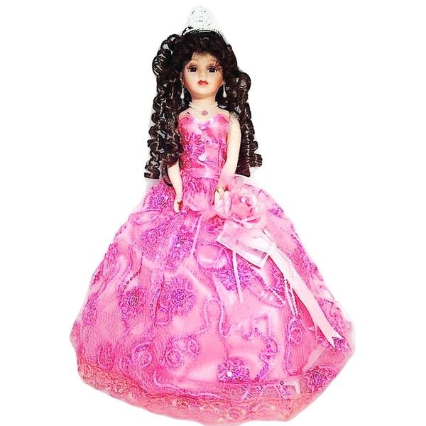 Cherish Crafts Pink 18-inch Porcelain Quinceanera Doll