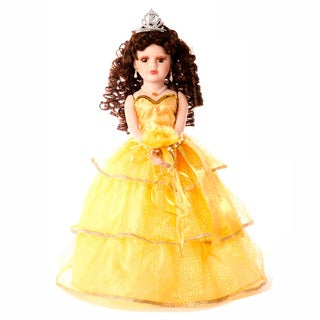 Cherish Crafts Orange 16-inch Porcelain Quinceanera Doll