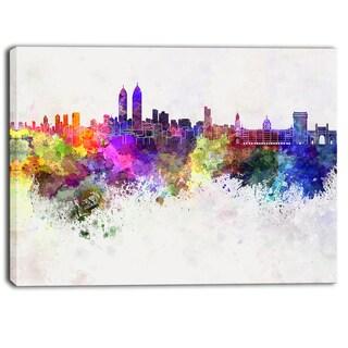 Designart - Mumbai Skyline - Cityscape Canvas Wall Art Print
