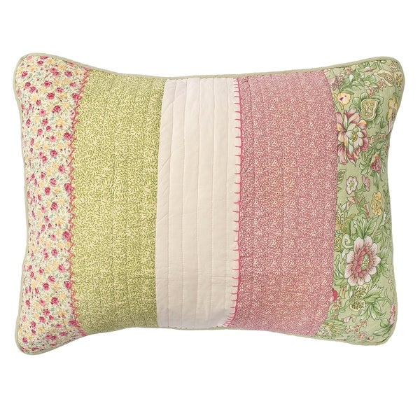 Amberly Green and Pink Standard Sham