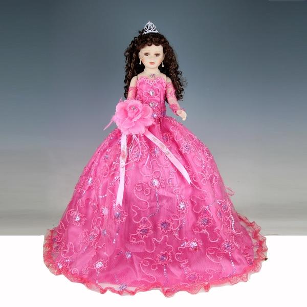 Cherish Crafts Pink 28-inch Porcelain Quinceanera Doll