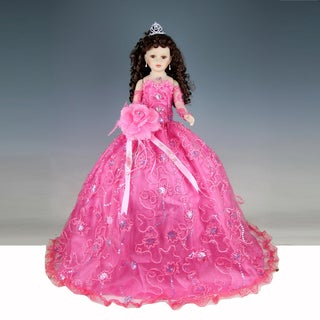 Cherish Crafts Pink 28-inch Porcelain Quinceanera Doll
