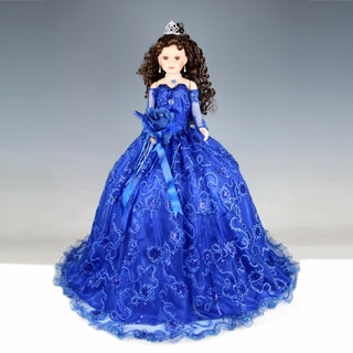 Cherish Crafts Blue 28-inch Porcelain Quinceanera Doll