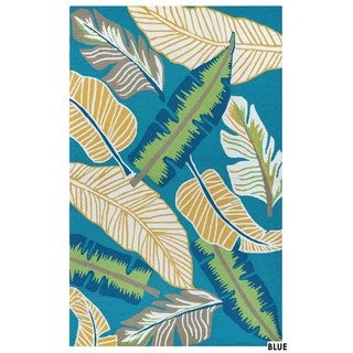 Rizzy Home Azzura Hill Collection Multicolored Feathers Area Rug - 5' x 7'6