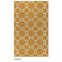 Rizzy Home Azzura Hill Collection Bi-colored Geometric Area Rug (5' x 7'6) - 5' x 7'6