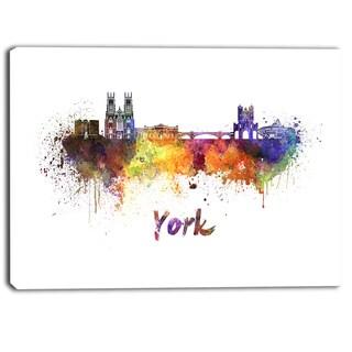 Designart - York Skyline - Cityscape Canvas Artwork Print