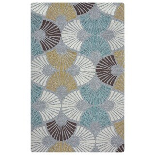 Rizzy Home Azzura Hill Collection Grey Geometric Area Rug (3'6 x 5'6)