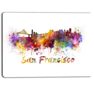 Designart - San Francisco Skyline - Cityscape Canvas Artwork Print