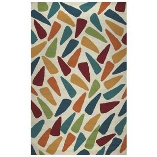 Rizzy Home Azzura Hill Collection Multicolored Geometric Area Rug (3'6 x 5'6)