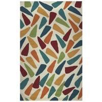 Rizzy Home Azzura Hill Collection Multicolored Geometric Area Rug - 3'6 x 5'6'
