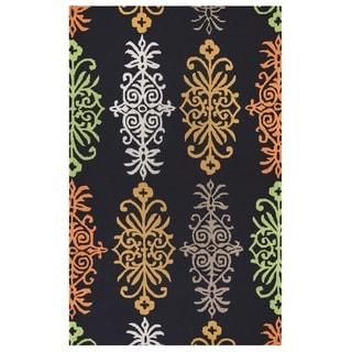 Rizzy Home Azzura Hill Collection Multicolored Ornamental Area Rug (3'6 x 5'6)