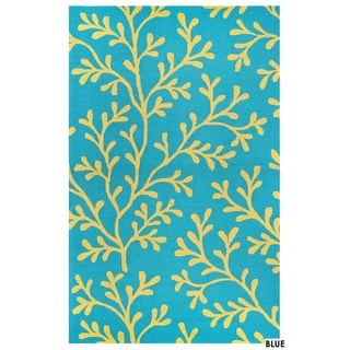 Rizzy Home Azzura Hill Collection Botanical Area Rug (3'6 x 5'6)
