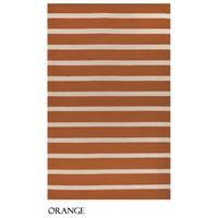 Rizzy Home Azzura Hill Collection Bi-colored Striped Area Rug - 9' x 12'