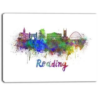 Designart - Reading Skyline - Cityscape Canvas Artwork Print