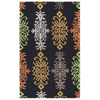 Rizzy Home Azzura Hill Collection Multicolored Ornamental Area Rug - 9' x 12'