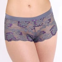 Prestige Women's Biatta Victoria Grey Cross Dyed Lace Hot Short Panties