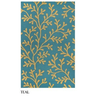 Rizzy Home Azzura Hill Collection Botanical Area Rug (9' x 12')