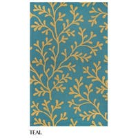 Rizzy Home Azzura Hill Collection Botanical Area Rug - 9' x 12'