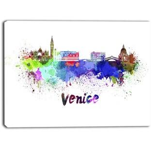 Designart - Venice Skyline - Cityscape Canvas Art Print