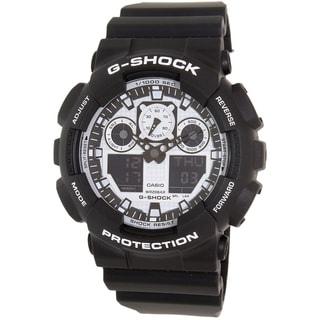 Casio Men's Black Resin G-Shock GA100BW-1A Quartz Watch