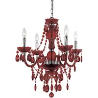 Naples Red Four Light Mini Chandelier