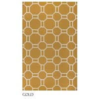 "Rizzy Home Azzura Hill Collection Bi-colored Geometric Area Rug - 7'6"" x 9'6"""