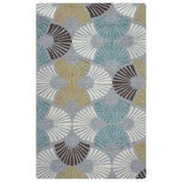 """Rizzy Home Azzura Hill Collection Grey Geometric Area Rug - 7'6"""" x 9'6"""""""