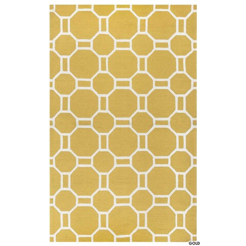 Rizzy Home Azzura Hill Collection Bi-colored Geometric Accent Rug (3'6 x 5'6)