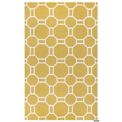 Rizzy Home Azzura Hill Collection Bi-colored Geometric Accent Rug (3'6 x 5'6)