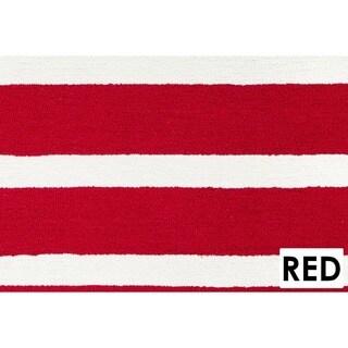 Rizzy Home Azzura Hill Collection Bi-colored Striped Area Rug (7'6 x 9'6)
