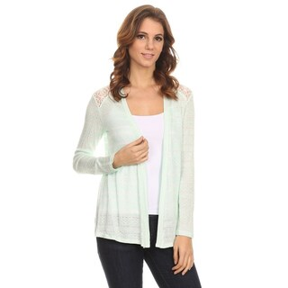 MOA Collection Women's Lace Detail Cardigan