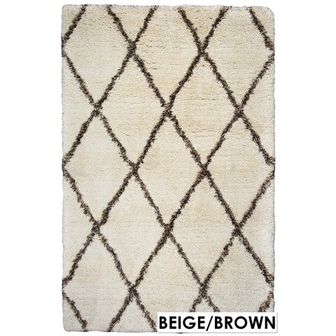 Rizzy Home Connex Collection Polyester Shag Accent Rug