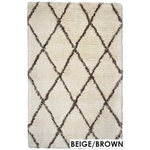 Rizzy Home Connex Collection Polyester Shag Area Rug (5' x 7'6)
