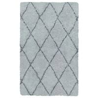 Rizzy Home Connex Collection Polyester Shag Area Rug (7'6 x 9'6)