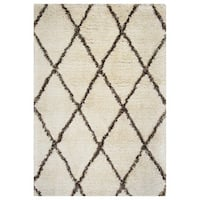 Rizzy Home Connex Collection Polyester Shag Area Rug (9' x 12')