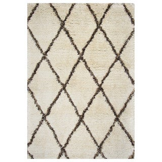 Rizzy Home Connex Collection Polyester Shag Area Rug (9' x 12') (More options available)