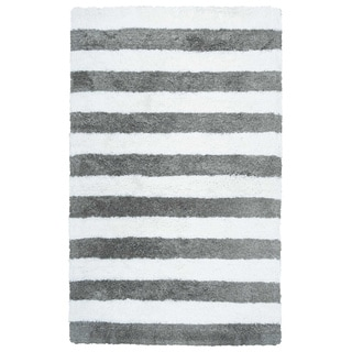 Rizzy Home Tabor Belle Collection Striped Polyester Shag Area Rug (5' x 8')